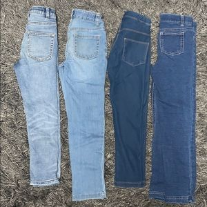 Girls 2 pairs Jeans & 2 pairs of jeggings, sz 6
